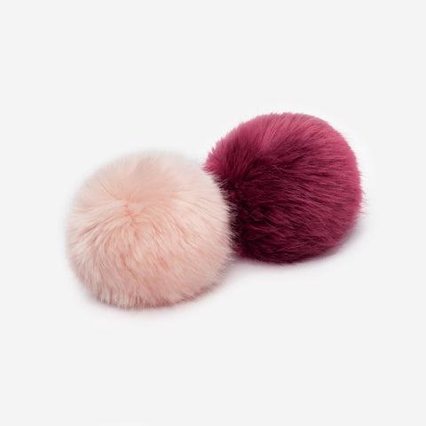 Burgundy and Light Pink Pom Pack