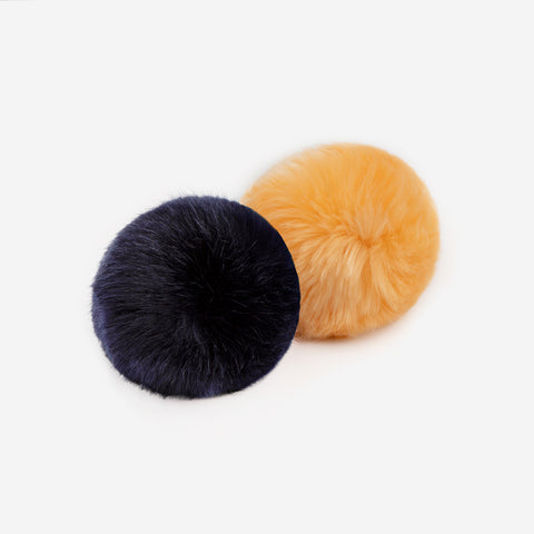Cantaloupe and Navy Pom Pack