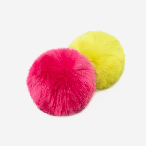 Neon Yellow and Neon Pink Pom Pack