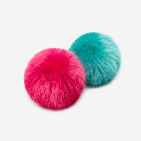 Neon Pink and Neon Teal Pom Pack