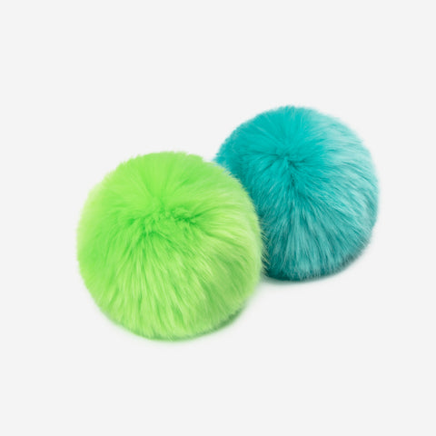 Neon Teal and Neon Green Pom Pack