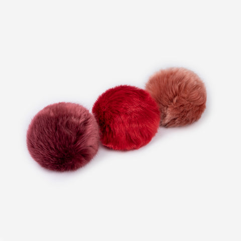 Burgundy, Crimson and Dark Pink Pom Pack