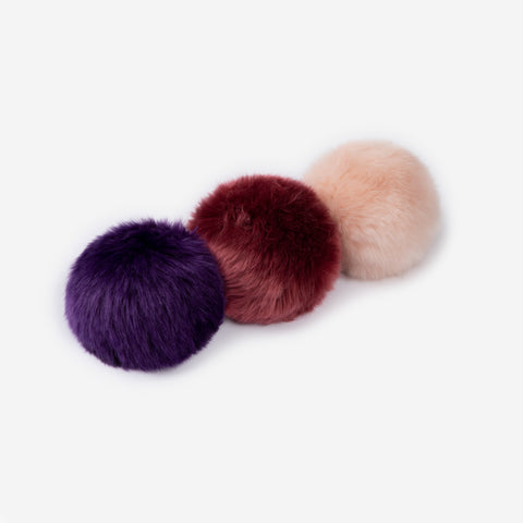 Deep Purple, Burgundy, and Light Pink Pom Pack