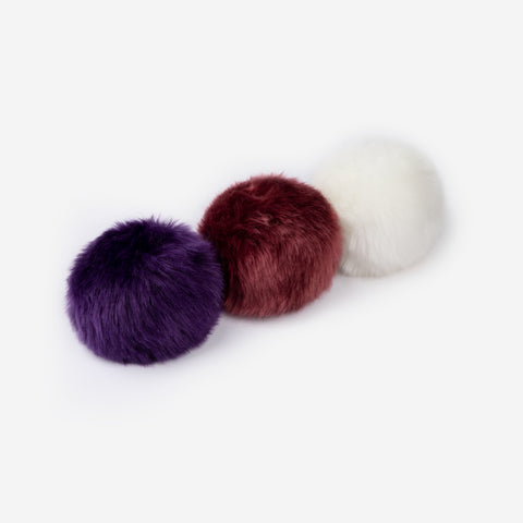 Deep Purple, Burgundy, and White Pom Pack