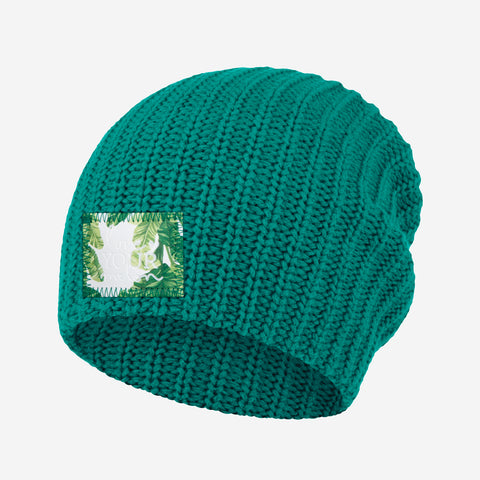 Quetzal Green Beanie (Banana Leaf Patch)