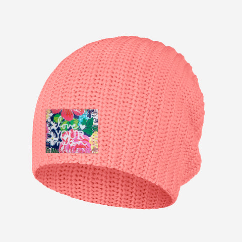 Pink Salmon Beanie (Rose Garden Patch)