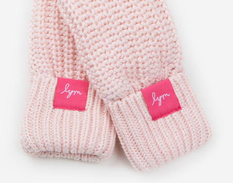 Kids Light Pink Mittens-Accessory-Love Your Melon