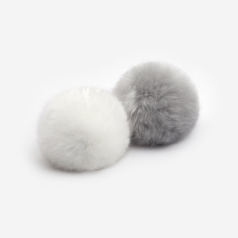 White and Light Charcoal Pom Pack
