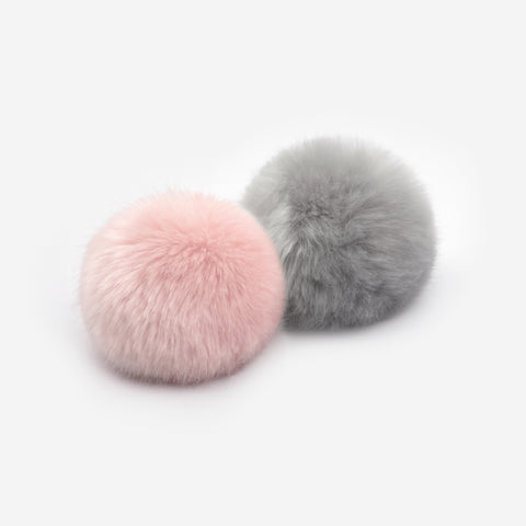 Light Charcoal and Light Pink Pom Pack