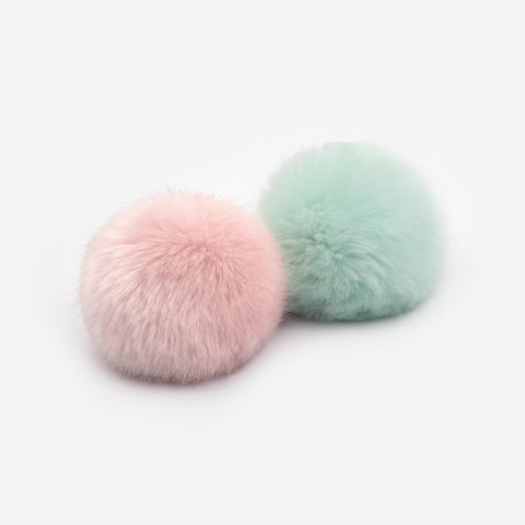 Seafoam and Light Pink Pom Pack
