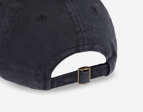 Black Logo Washed Denim Cap