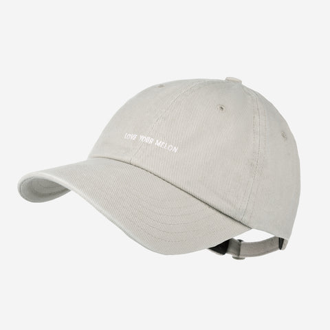 Gray Logo Washed Denim Cap