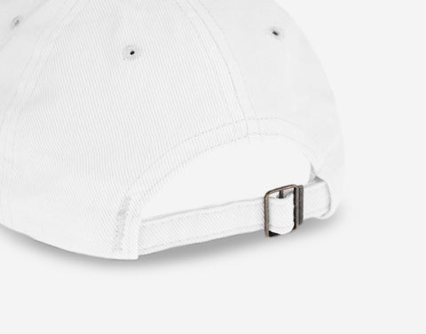 White Logo Washed Denim Cap