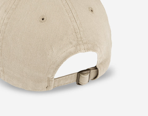 Khaki Logo Washed Denim Cap