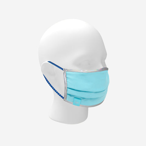 Baby Blue Reflective Mask