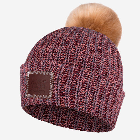 Fiesta Pom Beanie (Natural Pom)-Beanie-Love Your Melon