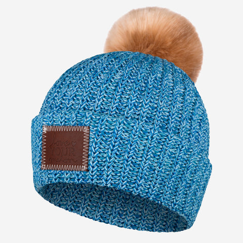 Island Pom Beanie (Natural Pom)-Beanie-Love Your Melon