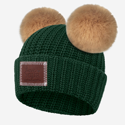 Hunter Double Pom Beanie (Natural Pom)