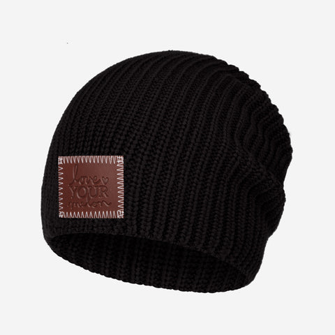Black Lightweight Beanie