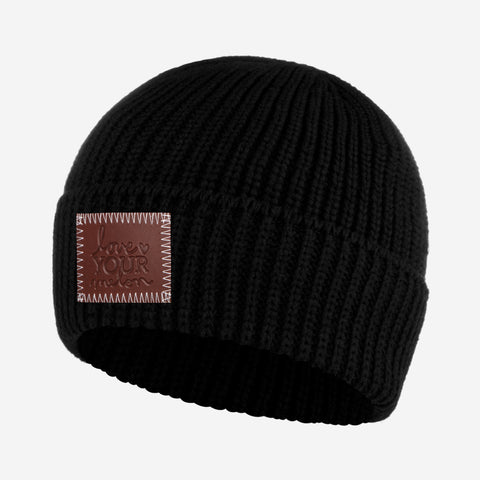 Black Lightweight Cuffed Beanie