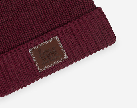 Burgundy Lightweight Cuffed Beanie