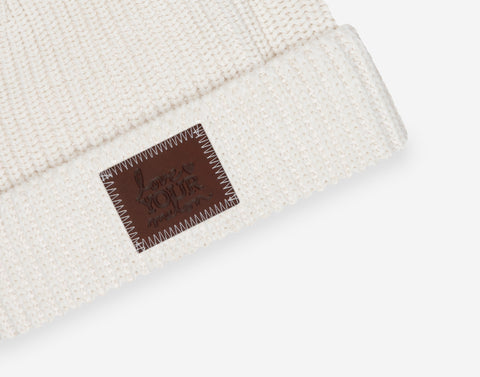 White Speckled Lightweight Cuffed Beanie