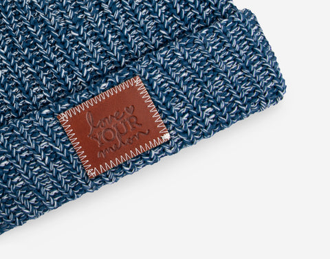 Summit Speckled Pom Beanie (White Pom)-Beanie-Love Your Melon