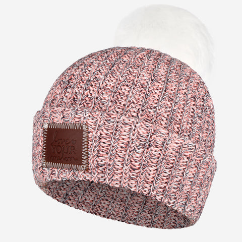 Flamingo Pom Beanie (White Pom)-Beanie-Love Your Melon
