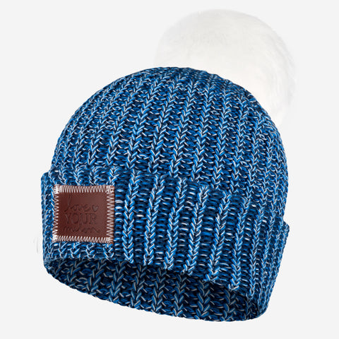 Blueberry Pom Beanie (White Pom)-Beanie-Love Your Melon
