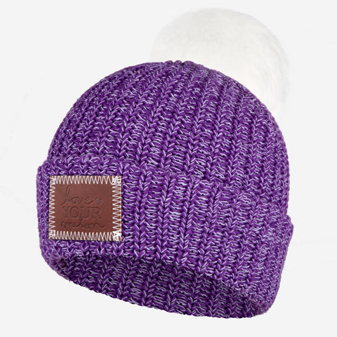 Prince Pom Beanie (White Pom)-Beanie-Love Your Melon
