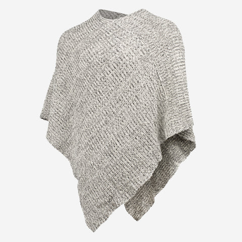 Women's Black Speckled Knit Shawl