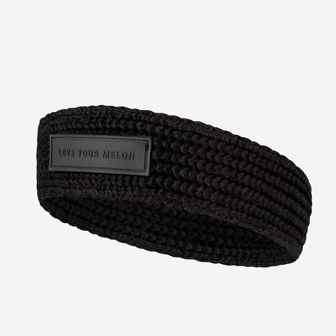 Black Skinny Knit Headband