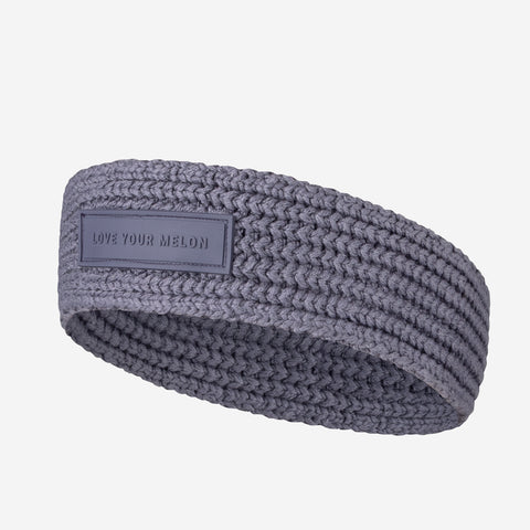Light Charcoal Skinny Knit Headband