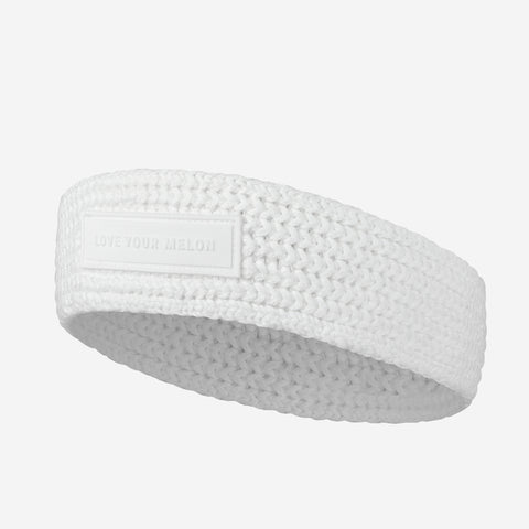 White Skinny Knit Headband