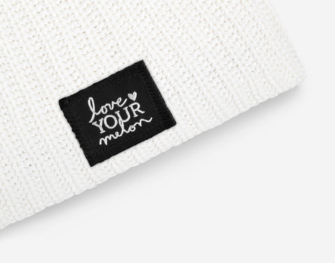 White Silver Foil Beanie-Love Your Melon