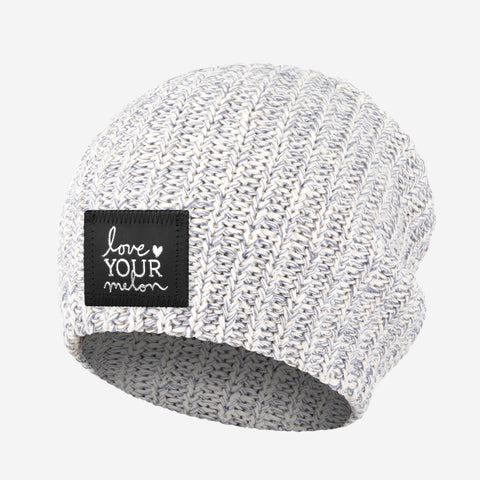Gray Speckled Silver Foil Beanie-Beanie-Love Your Melon