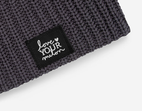 Dark Charcoal Silver Foil Beanie-Love Your Melon