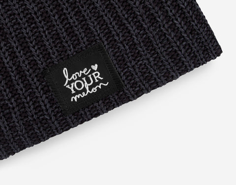 Smoke Speckled Silver Foil Beanie-Love Your Melon