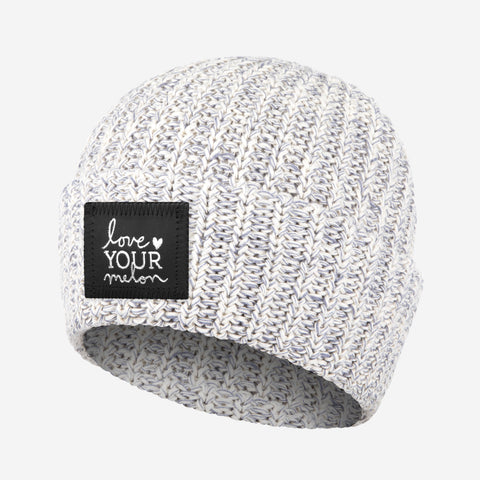 Gray Speckled Silver Foil Cuffed Beanie-Beanie-Love Your Melon