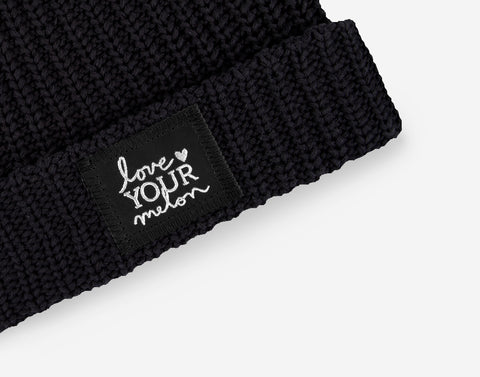 Black Silver Foil Cuffed Beanie-Beanie-Love Your Melon