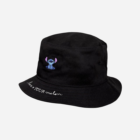 Stitch Black Bucket Hat
