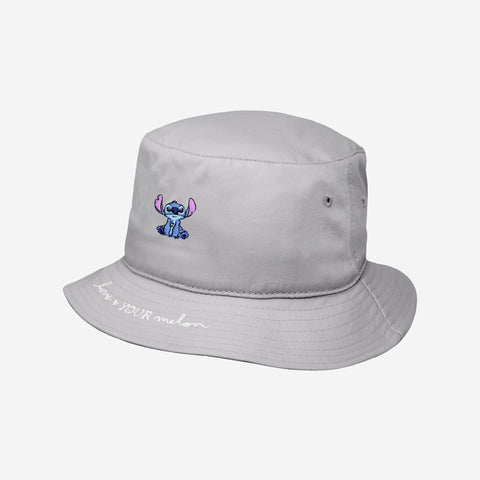 Stitch Gray Bucket Hat