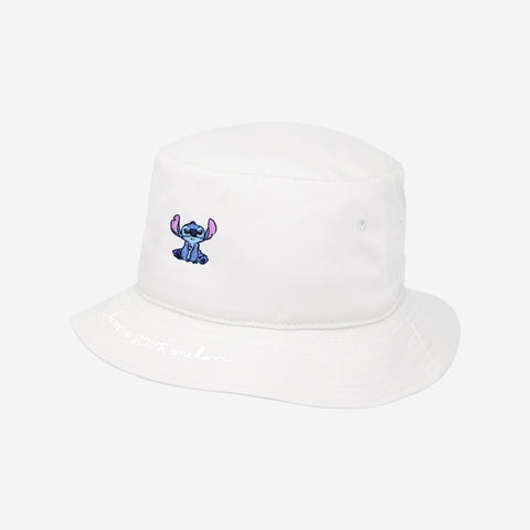 Stitch White Bucket Hat