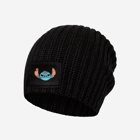 Stitch Kids Black Beanie