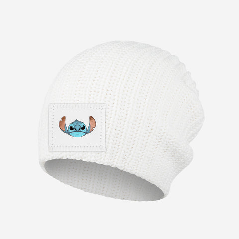 Stitch Kids White Beanie