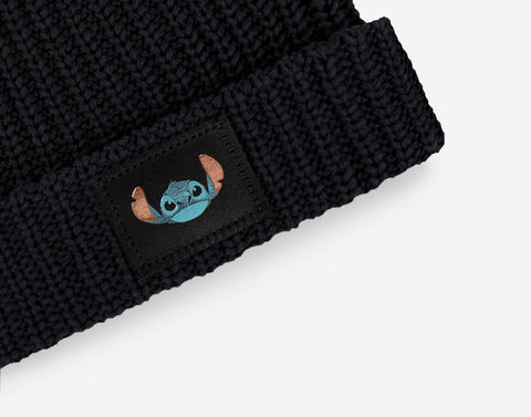 Stitch Black Double Pom Beanie