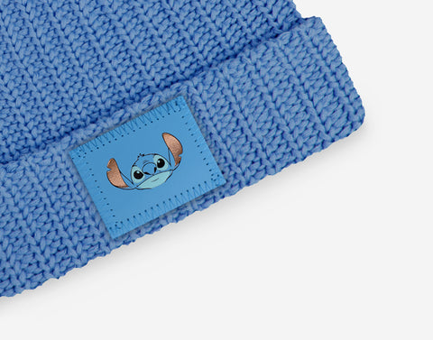 Stitch Soft Blue Double Pom Beanie