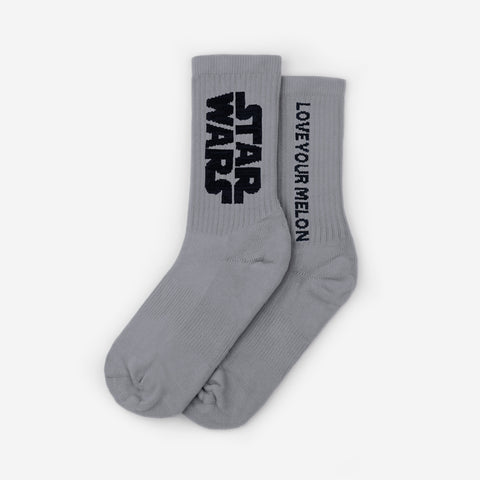Star Wars Gray Crew Socks