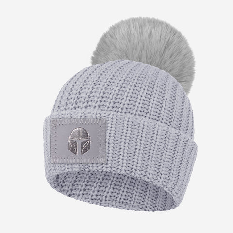 Star Wars Mandalorian Kids Pom High Rise Beanie
