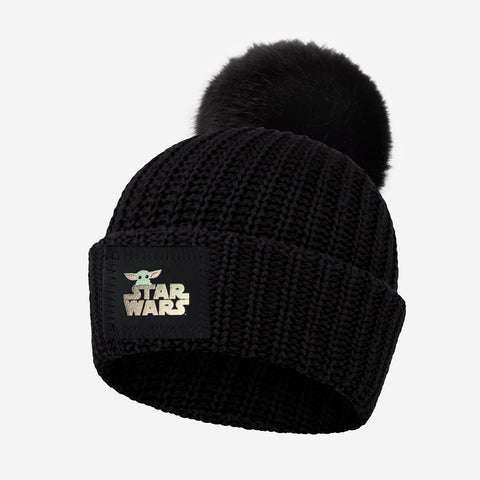 Star Wars and The Child Kids Pom Beanie